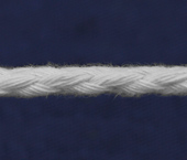 Cordão de algodão 5 mm branco Cordex ref. A22n c/ 50 m