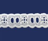 Tira bordada 22 mm branca Hoepcke ref. 011065 c/ 9,15 m