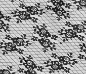Renda de poliamida 140 cm preta Rendamira ref. 18.70 por metro