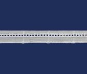 Tira bordada 015 mm branca Lulitex ref. JA1633 c/ 13,70 m