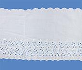 Tira bordada 200 mm branca Aquarela ref. BDJA8128 c/ 13,70 m