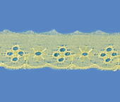 Tira bordada 025 mm amarelo Aquarela ref. BDPE2564 c/ 13,70 m