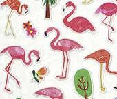 Cartela Adesiva 3D - Flamingo