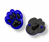 Botão infantil de plástico Sp ref. pata azul escuro c/ 24 un