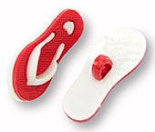 Botão infantil de plástico Sp ref. chinelo vermelho c/ 24 un