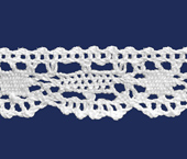 Renda de algodão 020 mm Ipiranga ref. 412 c/ 10 m