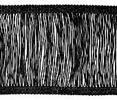 Franja entremeio de viscose preta FB c/ 10 m