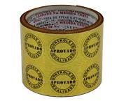 Etiqueta adesiva controle de qualidade ouro Reidma c/ 10 m