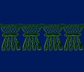 Renda guipir 018 mm verde escuro Lulitex ref. RGPES3195 c/ 10 m