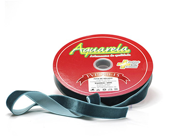 Fita de veludo Aquarela ref. FVPO10/194524 - 15 mm c/ 10 m
