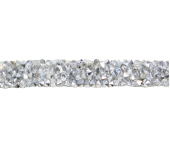 Tira de strass termocolante Lulitex ref. TST7016 CRYSTAL c/ 9,6 m