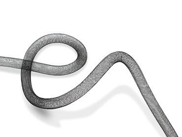 Crinol tubular preto Lulitex 10 mm ref. 10-22.5/BLACK por metro