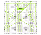 Regua acrílica para patchwork 15x15cm x 03mm Kas Maq