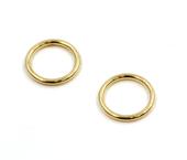 Argola de zamac ouro 07 mm Fermoplast c/ 100 un