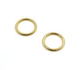 Argola de zamac ouro 10 mm Fermoplast c/ 100 un