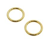 Argola de zamac ouro 13 mm Fermoplast c/ 100 un