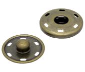 Colchete pressão p/ costurar de latão 25 mm Lulitex c/ 06 un