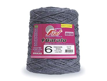 Barbante colorido Fial + Barato nº 6 ref. jeans c/ 512 m