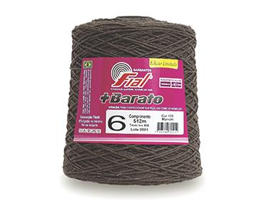 Barbante colorido Fial + Barato nº 6 ref. marrom c/ 512 m