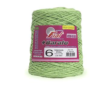 Barbante colorido Fial + Barato nº 6 ref. verde abacate c/ 512 m