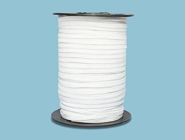 Elástico de embutir Estrela ref. R113 Hel 4,5 mm branco c/ 100 m