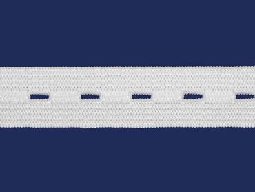 Elástico para casear 18 mm São José ref. 4018 branco c/ 25 m