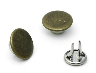 Botão fixo de latão 14 mm Eberle ref. BT2.140.80.L c/250 un