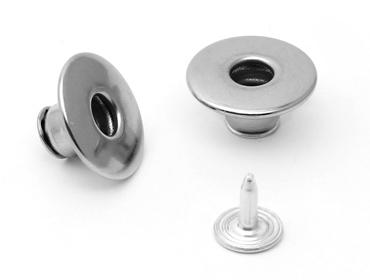 Botão flexível de ferro 17 mm Eberle ref. BT1.170.90.VZ.F c/ 250 un