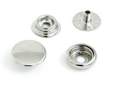 Botão de pressão ferro 15 mm Eberle NIQUELADO ref. BT7.150.100.6.F c/ 200 un