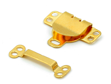 Colchete de latão p/ costurar de gancho dourado total Eberle ref. CC8.893.9.L c/ 200 un