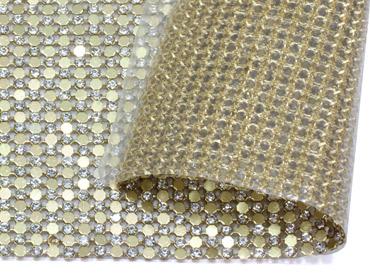 Manta de alumínio com strass termocolante RP  c/ 115 cm