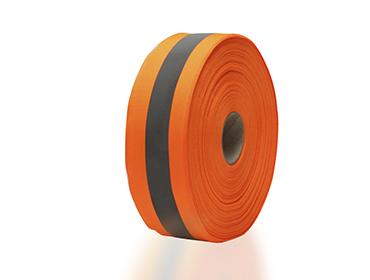 Faixa Refletiva com Gorgurão 5 cm laranja e cinza c/ 50 m