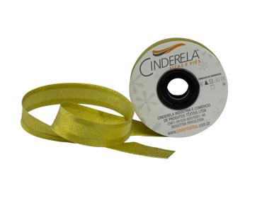 Viés com lurex Cinderela 25 mm fechado c/ 20 m