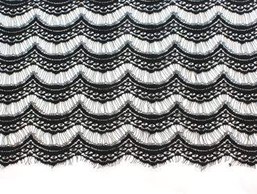 Renda de poliamida preta 125 cm Artpreiss ref. Art-Veneza por metro