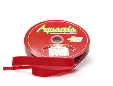 Fita de veludo Aquarela ref. FVPO10/01 - 15 mm c/ 10 m