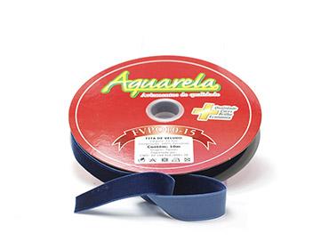 Fita de veludo Aquarela ref. FVPO10/13 - 15 mm c/ 10 m