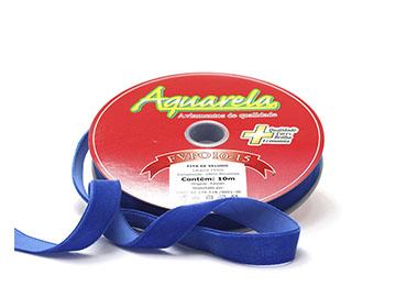 Fita de veludo Aquarela ref. FVPO10/232 - 15 mm c/ 10 m