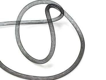 Crinol tubular preto Lulitex 8 mm ref. 8-22.5/BLACK por metro