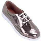 Sapato feminino Oxford Kalyta 4006 Prata Onix