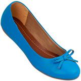 Sapatilha Feminina Atenas Color 9219212 Pele Azul