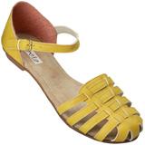 Sand�lia Rasteira Flavia 504 Amarelo