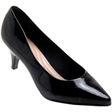 Sapato Feminino Beira rio 4076.150 Preto Verniz Cristal
