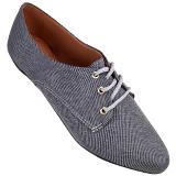 Sapato Oxford Jeans Cinza 4011TC