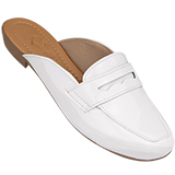 Sapato Feminino Mule Branco Verniz 035
