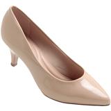 Sapato feminino Beira Rio 4076.150 Bege Verniz