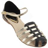 Sandália feminina Atenas Preto/Ouro