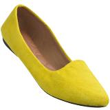 Sapatilha feminina 2108 Amarelo camurça