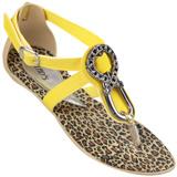 Sand�lia Feminina Glad�s 736 Amarelo