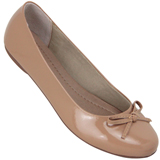 Sapatilha Feminina Atenas Color 9219212 Verniz Light Tan