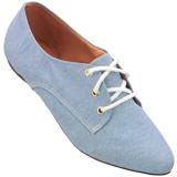 Sapato Oxford Feminino 4011tc Azul Claro